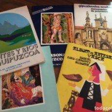 Coleccionismo Álbum: LOTE DE 5 ÁLBUMES DE CROMOS DE GUIPÚZCOA COMPLETOS. Lote 163852330