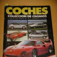 Coleccionismo Álbum: ÁLBUM DE CROMOS COCHES, COMPLETO 180 CROMOS, ED. CUSCÓ / MOTOR 16 AÑO 1988, ERCOM. Lote 164197730
