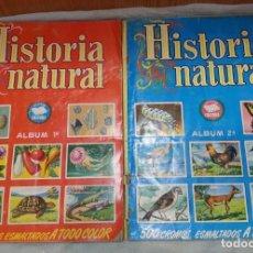 Coleccionismo Álbum: ALBUM DE CROMOS HISTORIA NATURAL. AÑOS 60- 70. COMPLETO. DOS UNIDADES. Lote 164487950