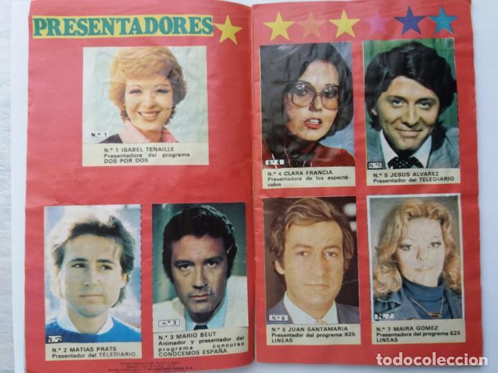 Coleccionismo Álbum: EL ÁLBUM DE LA TELE. REVISTA PRONTO. COMPLETO. 1978. - Foto 3 - 164576318