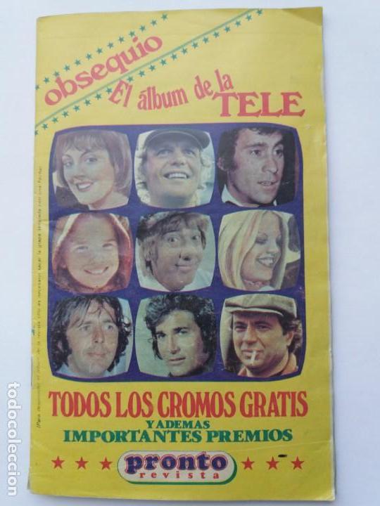 EL ÁLBUM DE LA TELE. REVISTA PRONTO. COMPLETO. 1978. (Coleccionismo - Cromos y Álbumes - Álbumes Completos)