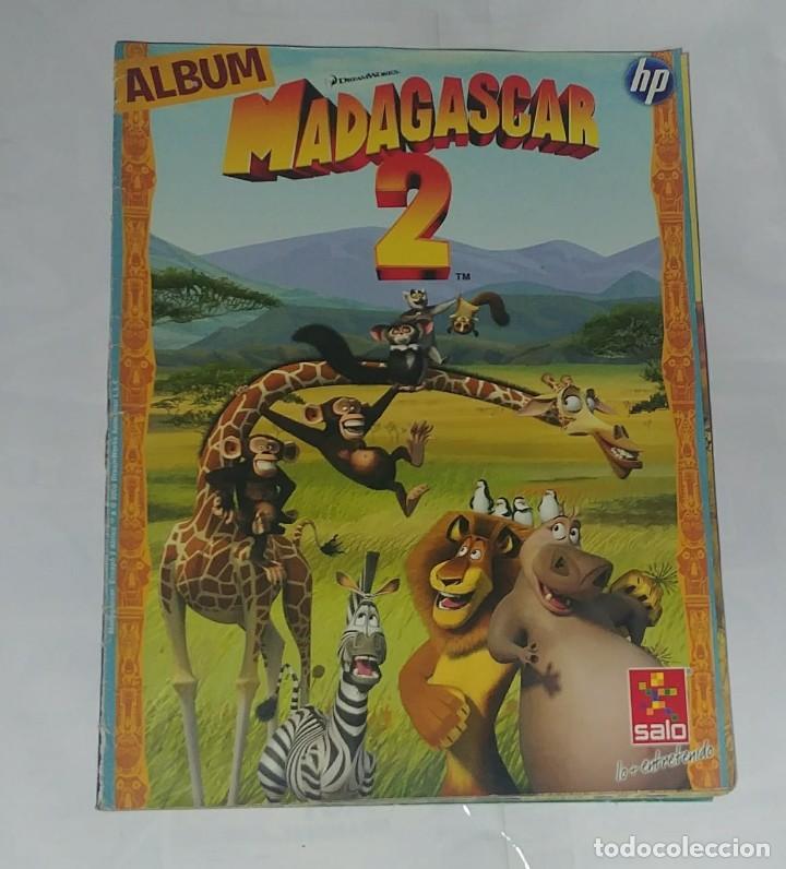 ALBUM MADAGASCAR 2 - EDITORIAL SALO 2008 - 100% COMPLETO (Coleccionismo - Cromos y Álbumes - Álbumes Completos)