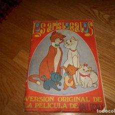 Coleccionismo Álbum: LOS ARISTOGATOS. ALBUM NO COMPLETO. EDIT. FHER. AÑO 1971. CON POSTER CENTRAL COMPLETO. Lote 165330454
