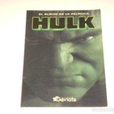 Coleccionismo Álbum: ALBUM LIBRO PELICULA HULK - PRIMERA PELICULA - 100% COMPLETO. Lote 165335410