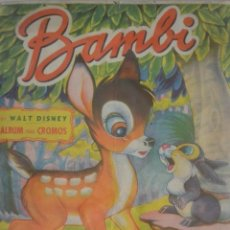 Coleccionismo Álbum: ALBUM CROMOS COMPLETO BAMBI. EDITORIAL FHER, BILBAO. Lote 165339270