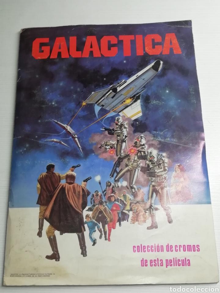 ALBUM GALACTICA COMPLETO 243 CROMOS.. AÑO 1979.. (Coleccionismo - Cromos y Álbumes - Álbumes Completos)