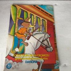 Coleccionismo Álbum: ÁLBUM COMPLETO LA VUELTA AL MUNDO DE WILLY FOG DANONE. Lote 165835242