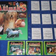 Coleccionismo Álbum: MIS ANIMALES PREFERIDOS - PANINI (1994) ¡COLECCIÓN COMPLETA SIN PEGAR!. Lote 166716710