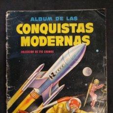 Coleccionismo Álbum: ÁLBUM CONQUISTAS MODERNAS, COMPLETO, 216 CROMOS. Lote 167793741