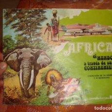 Coleccionismo Álbum: AFRICA EL MUNDO A TRAVÉS DE SUS CONTINENTES , COMPLETO CAMPAÑA LECHE RAM . Lote 167878844