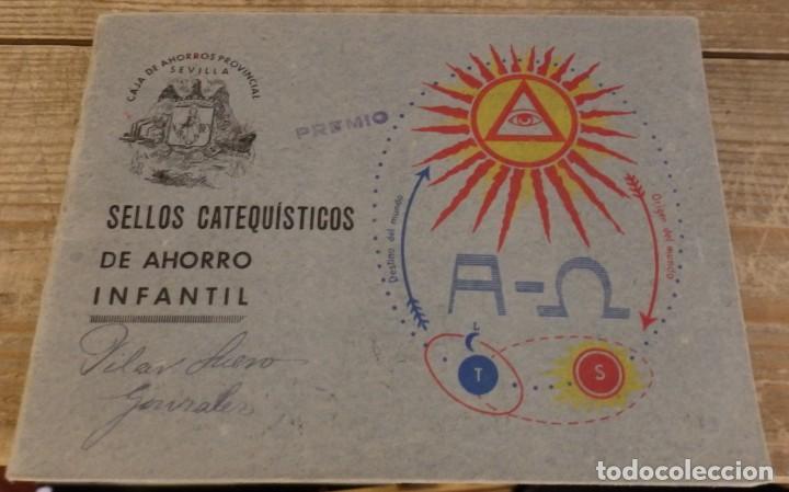 ALBUM SELLOS CATEQUISTICOS DE AHORRO INFANTIL CAJA DE AHORROS PROVINCIAL SEVILLA GRAFICAS LERCHUNDI (Coleccionismo - Cromos y Álbumes - Álbumes Completos)