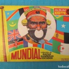 Coleccionismo Álbum: MUNDIAL RAZAS BANDERASY ESCUDOS. Lote 168030844