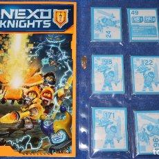 Coleccionismo Álbum: LEGO NEXO KINIGHTS - LEGO (2017) ¡COLECCIÓN COMPLETA SIN PEGAR!. Lote 168383452