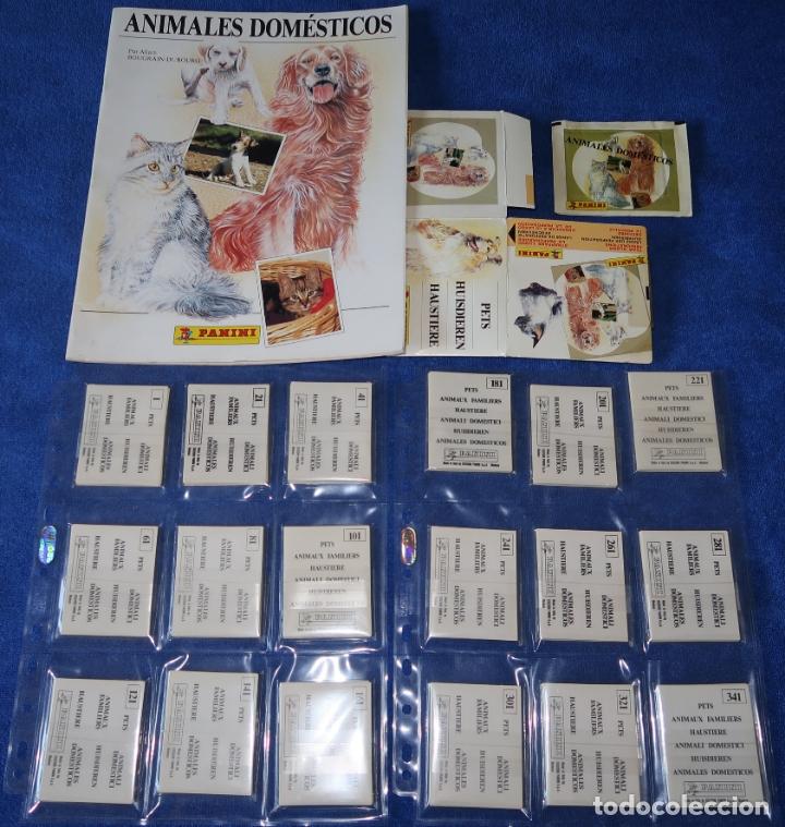 ANIMALES DOMÉSTICOS (1988) ¡COLECCIÓN COMPLETA SIN PEGAR! (Coleccionismo - Cromos y Álbumes - Álbumes Completos)