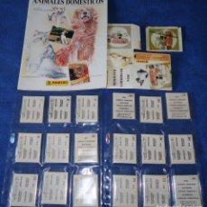 Coleccionismo Álbum: ANIMALES DOMÉSTICOS (1988) ¡COLECCIÓN COMPLETA SIN PEGAR!. Lote 168383816