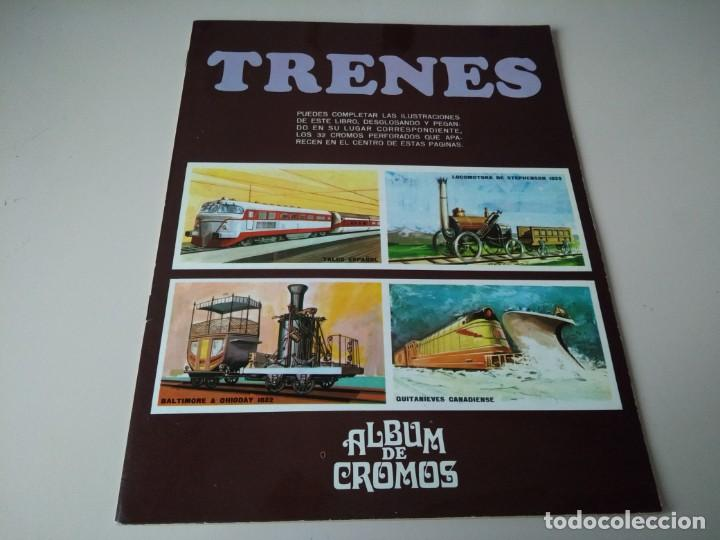 IÑI ÁLBUM DE CROMOS COMPLETO. TRENES. EDICIONES SUSAETA. 1971. LOTE BETA. (Coleccionismo - Cromos y Álbumes - Álbumes Completos)