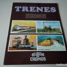 Coleccionismo Álbum: IÑI ÁLBUM DE CROMOS COMPLETO. TRENES. EDICIONES SUSAETA. 1971. LOTE BETA.. Lote 168513868