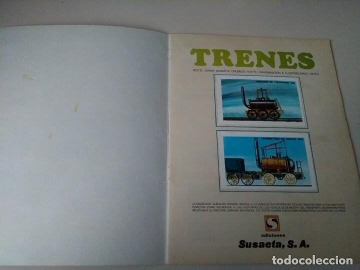 Coleccionismo Álbum: iñi ÁLBUM DE CROMOS COMPLETO. TRENES. EDICIONES SUSAETA. 1971. Lote beta. - Foto 2 - 168513868