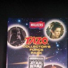 Coleccionismo Álbum: ÁLBUM COMPLETO CON 50 TAZOS STAR WARS DE LA TRILOGÍA ORIGINAL - WALKERS - 1996. Lote 168624956