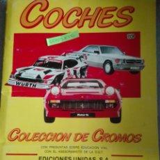 Coleccionismo Álbum: COCHES EDICIONES UNIDAS COMPLETO. Lote 169211588