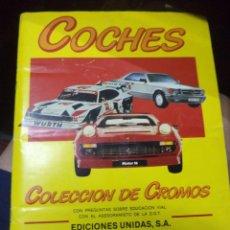 Coleccionismo Álbum: ALBUM COCHES 1986.MOTOR 16 Y EDICIONES UNIDAS S.A. COMPLETO.. Lote 169513428