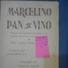 Coleccionismo Álbum: MARCELINO PAN Y VINO. Lote 169842362