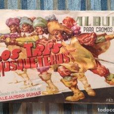 Coleccionismo Álbum: ALBUM DE CROMOS LOS TRES MOSQUETEROS (COMPLETO) - ALEJANDRO DUMAS (J.L.AGUILAR AÑOS 40). Lote 170014064