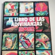Coleccionismo Álbum: ALBUM DE CROMOS EL LIBRO DE LAS ADIVINANZAS- BIMBO- COMPLETO. Lote 170120364