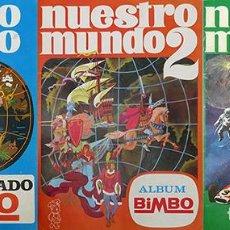 Coleccionismo Álbum: 3 ALBUM 1967 1968 1969 NUESTRO MUNDO 1, 2 Y 3 BIMBO. COMPLETOS Y BUEN ESTADO. Lote 170297388