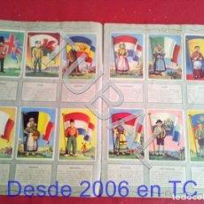 Coleccionismo Álbum: TUBAL ALBUM CON CROMOS BANDERAS DEL UNIVERSO EDITORIAL BRUGUERA TODO Y SOLO LO QUE VES EN LAS FOTOS. Lote 170346080