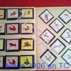 Coleccionismo Álbum: TUBAL ALBUM DE CROMOS EL SELLO ESPAÑOL 1967 71 ROJO FALTAN LOS QUE VES VACIOS. Lote 170347728