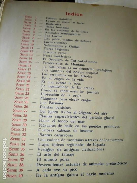 Coleccionismo Álbum: ~~~~ LAS MARAVILLAS DEL MUNDO NESTLÉ, 40 SERIES COMPLETO, BUEN ESTADO .~~~~ - Foto 7 - 171438875