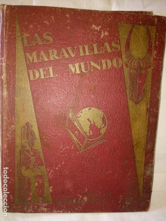 ~~~~ LAS MARAVILLAS DEL MUNDO NESTLÉ, 40 SERIES COMPLETO, BUEN ESTADO .~~~~ (Coleccionismo - Cromos y Álbumes - Álbumes Completos)