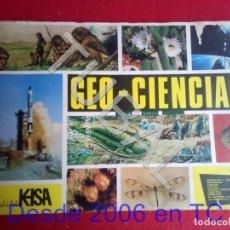 Coleccionismo Álbum: TUBAL GEO CIENCIAS KEISA ALBUM DE CROMOS FALTAN LOS QUE SE VEN. Lote 171456958