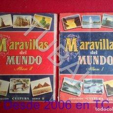 Coleccionismo Álbum: TUBAL MARAVILLAS DEL MUNDO ALBUM DE CROMOS 1 Y 2 MUY ANTIGUO COMPLETOS . Lote 171457602