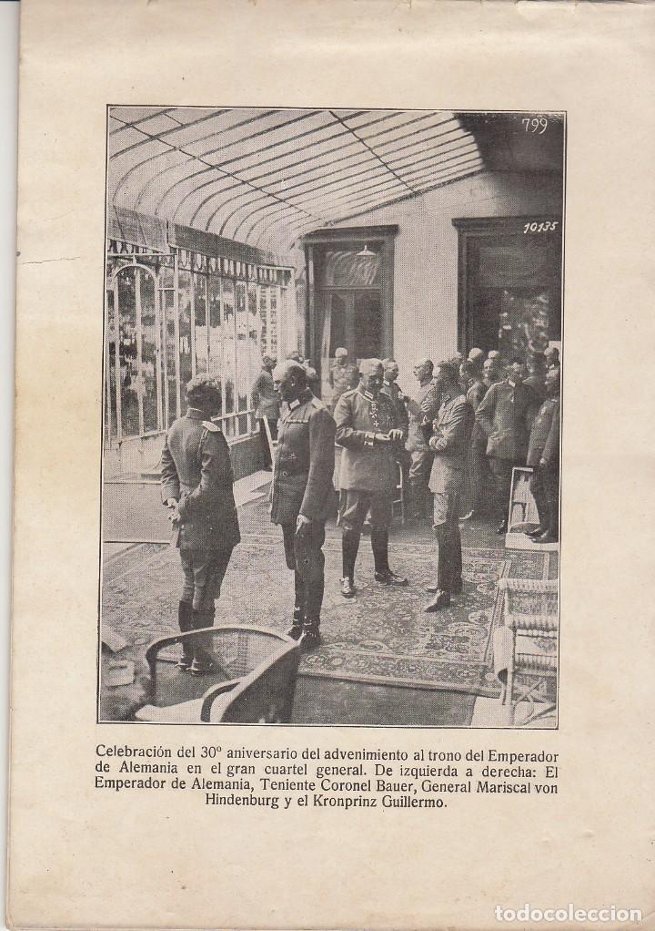 Coleccionismo Álbum: INSTANTÁNEAS DE LA GUERRA 1918. Número 6. - Foto 2 - 171496382