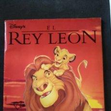 Coleccionismo Álbum: ÁLBUM DE CROMOS EL REY LEON, DISNEY, PANINI, COMPLETO. Lote 172002172