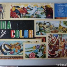 Coleccionismo Álbum: ÁLBUM DE CROMOS VIDA Y COLOR 1965 COMPLETO. Lote 172061760