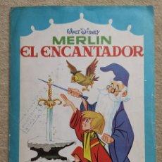 Coleccionismo Álbum: ALBUM CROMOS COMPLETO MERLÍN EL ENCANTADOR - WALT DISNEY - EDITORIAL FHER AÑO 1966. Lote 172273279