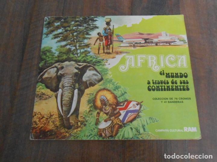 ALBUM CROMOS COMPLETO AFRICA EL MUNDO CONTINENTES LECHE RAM ALBUN ALFREEDOM (Coleccionismo - Cromos y Álbumes - Álbumes Completos)