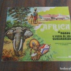 Coleccionismo Álbum: ALBUM CROMOS COMPLETO AFRICA EL MUNDO CONTINENTES LECHE RAM ALBUN ALFREEDOM. Lote 172843427
