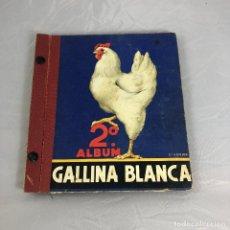 Coleccionismo Álbum: ANTIGUO ALBUM DE CROMOS 2º DE GALLINA BLANCA, COMPLETO, FUTBOL Y MUCHAS TEMATICAS.. Lote 173058494