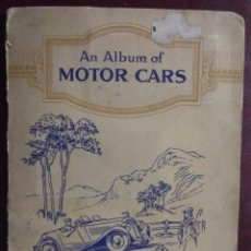 Coleccionismo Álbum: ÁLBUM COMPLETO MOTOR CARS CIGARETTE CARDS 50 CARTAS. Lote 173386617