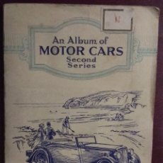 Coleccionismo Álbum: ÁLBUM COMPLETO MOTOR CARS SECOND SERIES CIGARETTE CARDS 50 CARTAS. Lote 173386767