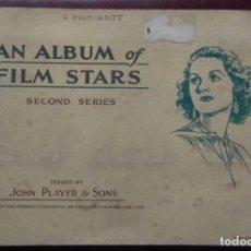 Coleccionismo Álbum: ALBUM CIGARETTE CARDS AN ÁLBUM OF FILM STARS. Lote 173386954