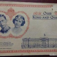 Coleccionismo Álbum: ÁLBUM COMPLETO OUR KING AND QUEEN CIGARETTE CARDS 50 CARTAS. Lote 173387555