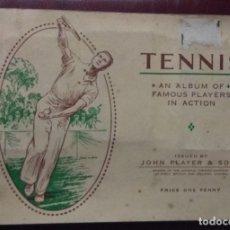 Coleccionismo Álbum: ÁLBUM COMPLETO TENNIS CIGARETTE CARDS 50 CARTAS. Lote 173388338