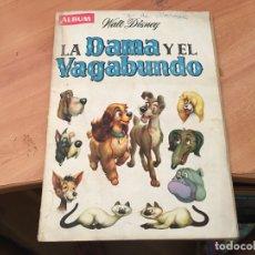 Coleccionismo Álbum: LA DAMA Y EL VAGABUNDO ALBUM COMPLETO DISNEY EDICIONES CLIPER (COIB22). Lote 173421498