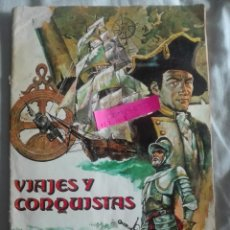 Coleccionismo Álbum: VIAJES Y CONQUISTAS COMPLETO EDITORIAL RUIZ ROMERO 1976. Lote 173455740