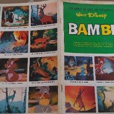 Coleccionismo Álbum: BAMBI LIBRO DE ORO DE ESTAMPAS WALT DISNEY SUSAETA ALBUM CROMOS COMPLETO. Lote 173457305